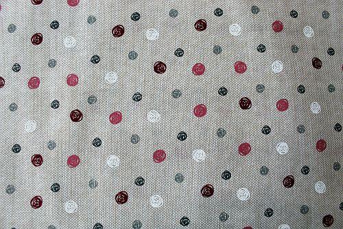 Bavlněné plátno režné s puntíky