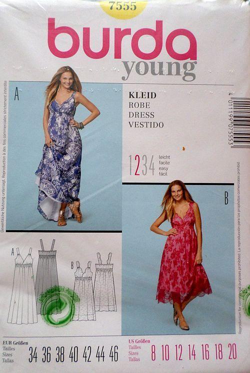 Střih BURDA - Dámské letní šaty vel. 34-46