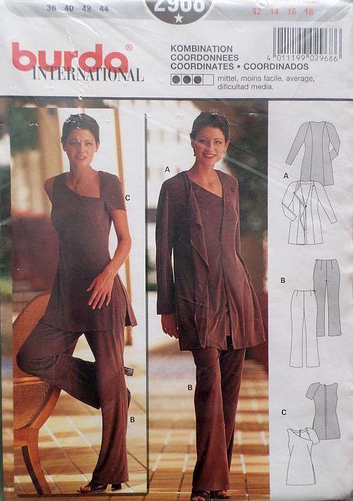 Střih BURDA - Dámský kalhotový kostým se sakem vel. 38-44