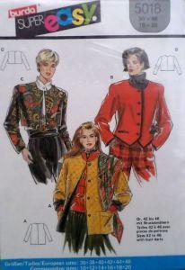 Střih BURDA - Dámskýu kabátek vel. 36-46