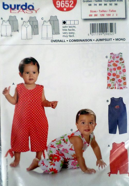 Střih BURDA - Dětský overal vel. 68-98