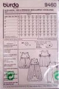 Střih BURDA - Dívčí šaty vel. 92 - 116