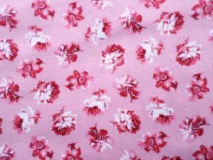 Bavlna růžová s květy