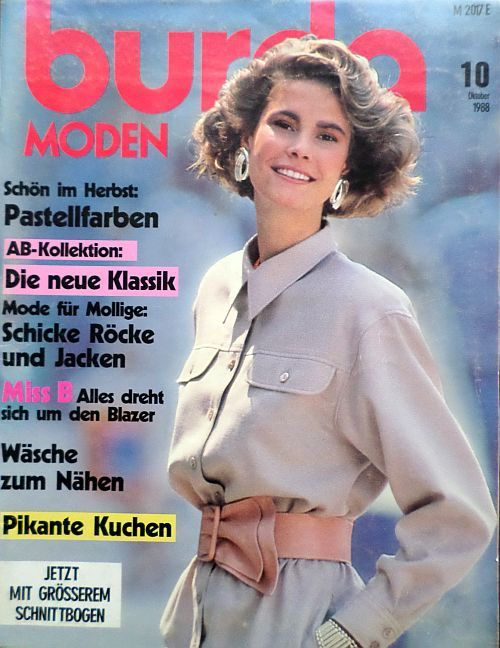 Burda 10/1988 v němčině