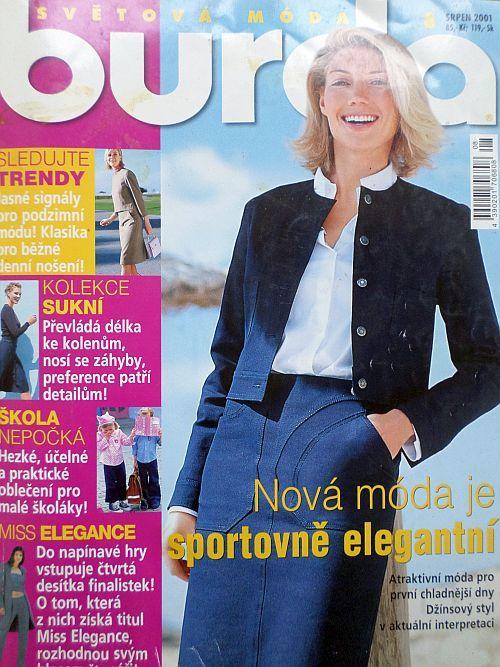 časopis Burda 8/2001 v češtině