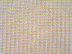 Halenková látka-žluté kárečko 70x140cm - kus