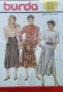 Střih BURDA - Dámská sukně se sklady vel. 38-52