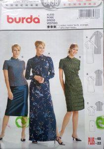 Střih BURDA - Dámské šaty, halenka, sukně vel. 36-48