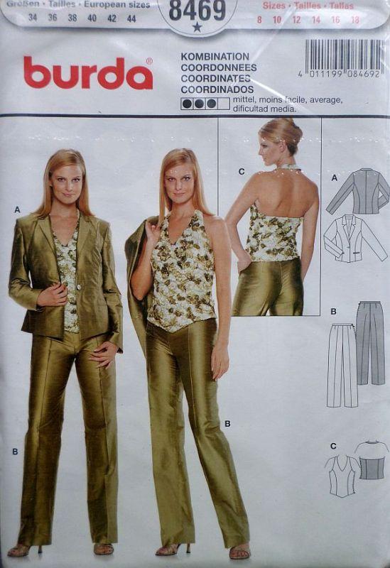 Střih Dámský kalhotový kostým
