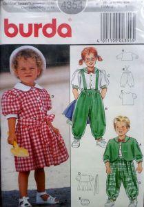 Střih BURDA - Dětské šaty a komplet vel. 86-104