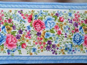Vaflovina modrá s květy š. 50 cm