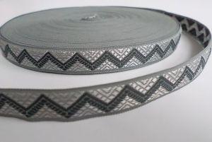 Vzorovka šedá šíře 15 mm