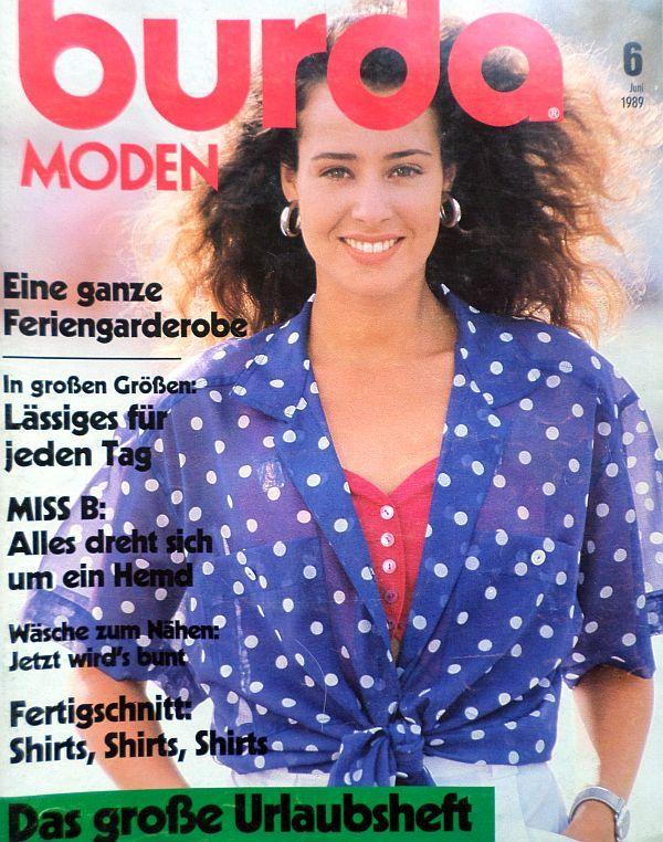 Burda 6/1989 v němčině