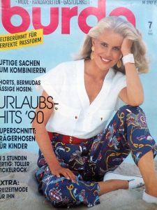 Burda 7/1990 v němčině
