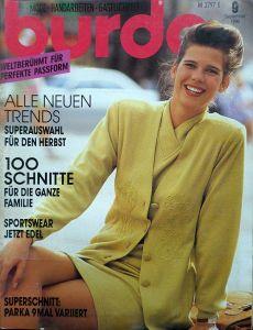 Burda 9/1990 v němčině