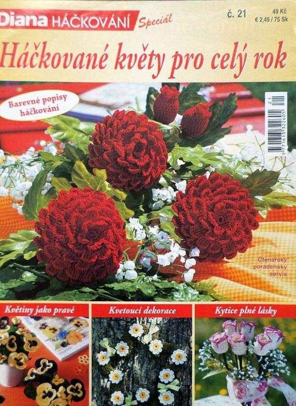 Háčkované květy č. 21